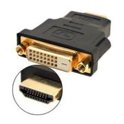 Adaptador Conector DVI Macho 24+1X HDMI Femea F-New