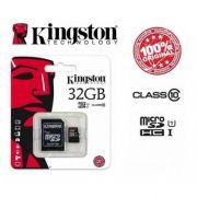 CARTÃO DE MICRO SD 32 GB CLASS 10 KINGSTON
