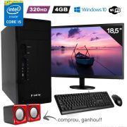 Computador Completo I5 3470 4GB HD 320GB c/ Monitor Wifi Win10