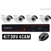 Kit Dvr 4 Canais Com 04 Câmeras HD Showtec
