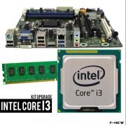 Kit Upgrade Placa Mãe + Processador I3 3.30ghz + Memória 4gb