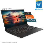 Notebook Lenovo i7 4º Geração 8GB HD SSD 240GB Win8 X1 Carbon Ultrabook