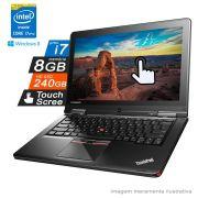 Notebook Lenovo i7 5ª Geração 8GB HD SSD 240GB Touch Scree 2em1 Win8 Yoga