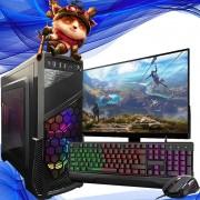 Pc Gamer Completo Intel Core i3 Hd 500gb Placa de Video Hdmi Win10 Monitor