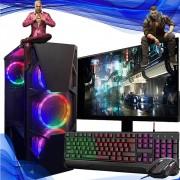 Pc Gamer Completo Intel Core I5 9ª Geração 8gb SSD 240gb 1TB Placa de Video 1650 Monitor