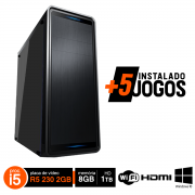 PC Gamer i5  3470 8GB HD 1TB R5 230 2GB Wifi Win10 Hdmi + 5 Jogos