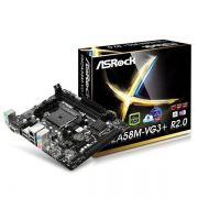 PLACA MÃE Asrock FM2A58M-VG3+ p/ AMD DDR3 até 32GB
