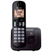 Telefone s/ Fio KX TGC210 lbb Preto Panasonic