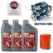 Kit Troca de Óleo Fiat Motor FIRE 1.0/1.4 Óleo + Filtro