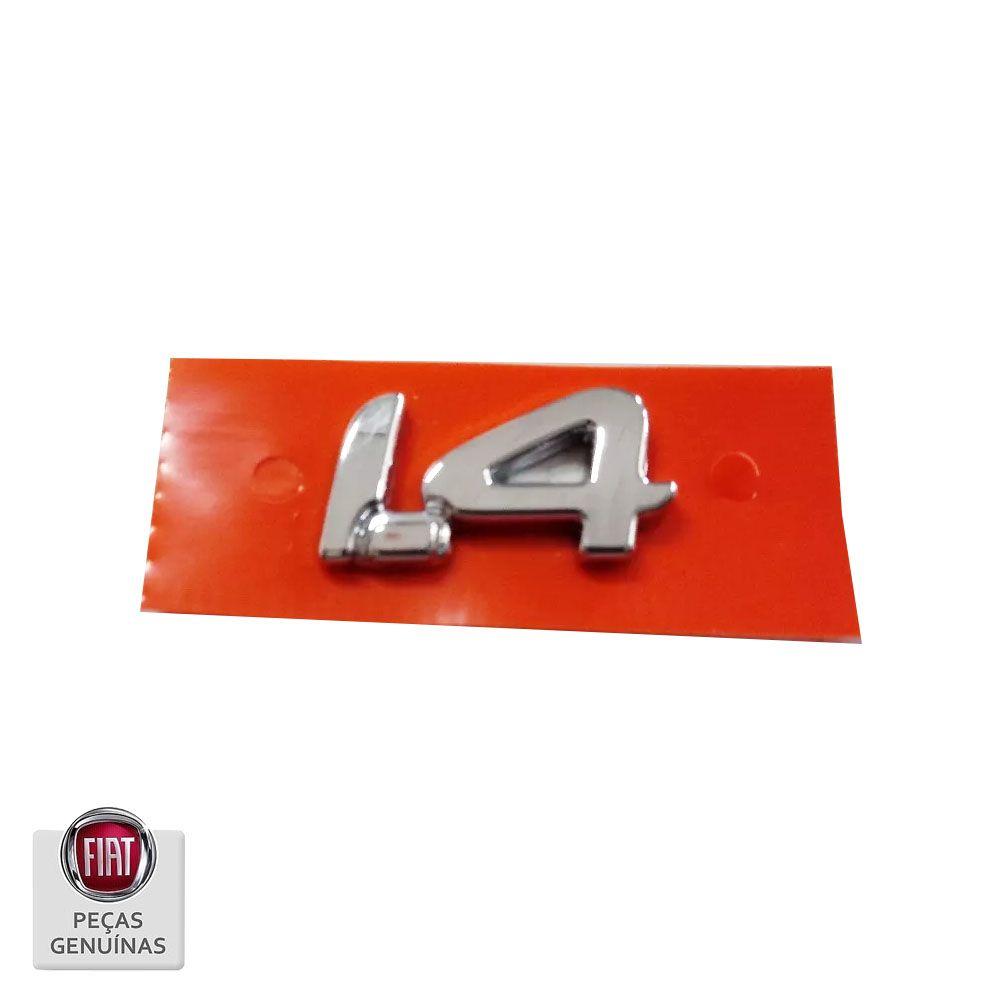 Emblema Letreiro 1.4 Fiat Novo Palio E Grand Siena Original Cod. 100201494