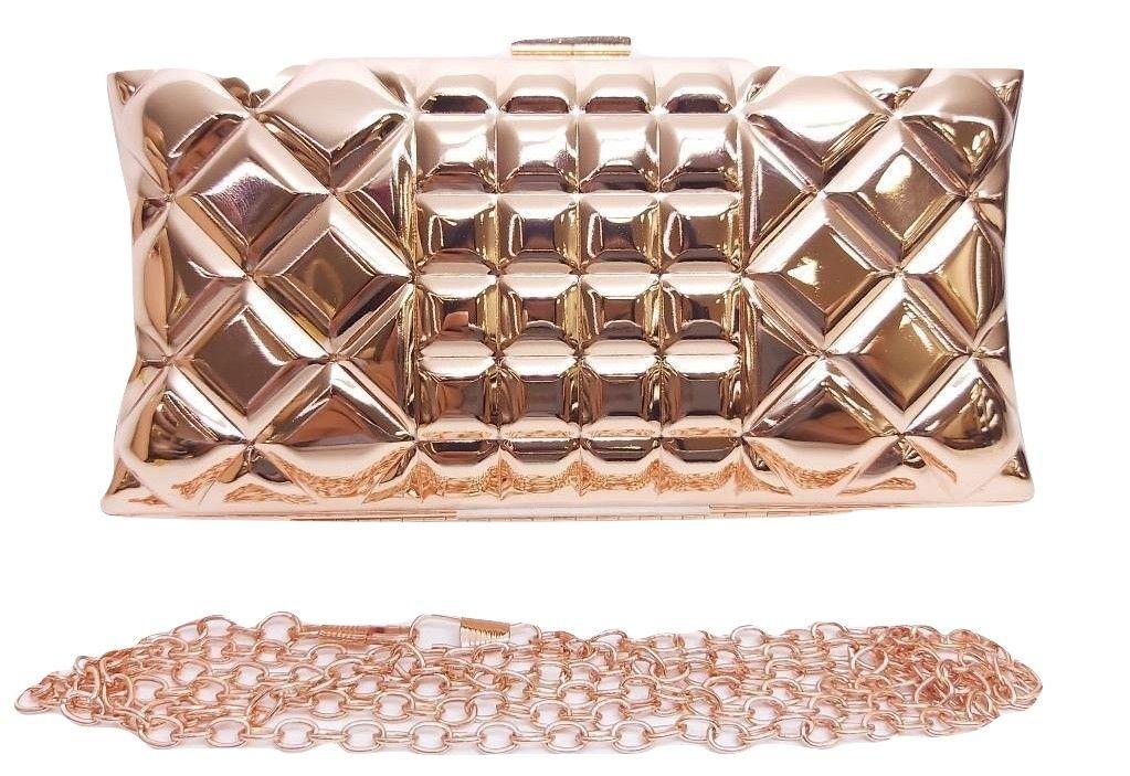 Bolsas Femininas Clutch Metálica Textura Luxo Festa (A1247)