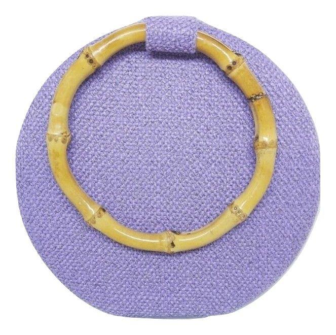 Bolsas Femininas Clutch Tecido Redonda Bambu Festa (A1165)