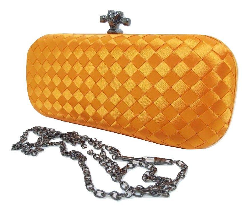 Bolsas Femininas Clutch Trançada Luxo Carteira Festa (G1)