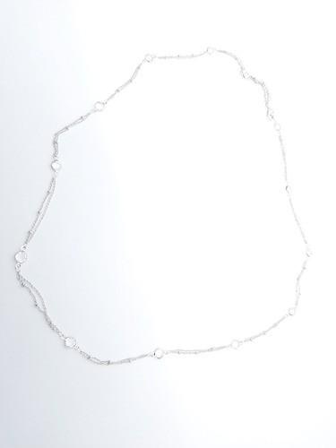 Colar Acessórios Femininos Comprida Semi Joia Strass (0018)
