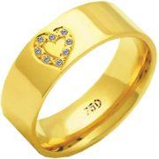 Aliança Lovely de Ouro 18K ZAE179