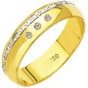 Aliança Luxus de Ouro 18K ZAE17