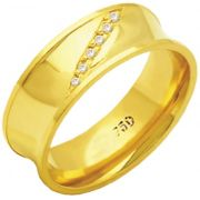 Aliança Queen de Ouro 18K ZAE162