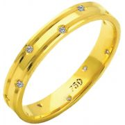 Aliança Star Slin de Ouro 18K ZAE175