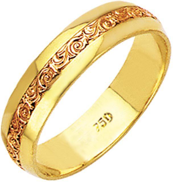 aliança brown de ouro 18k zbv050