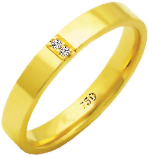 Aliança Duquesa de Ouro 18K ZAE143