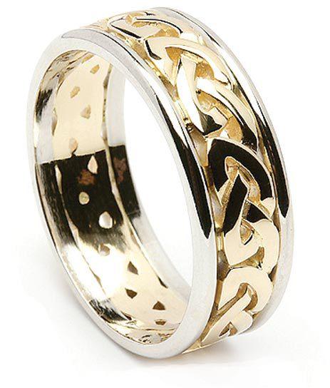 aliança em ouro celta zal0012