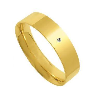 Aliança Passione de Ouro com Brilhante ZSAR60P