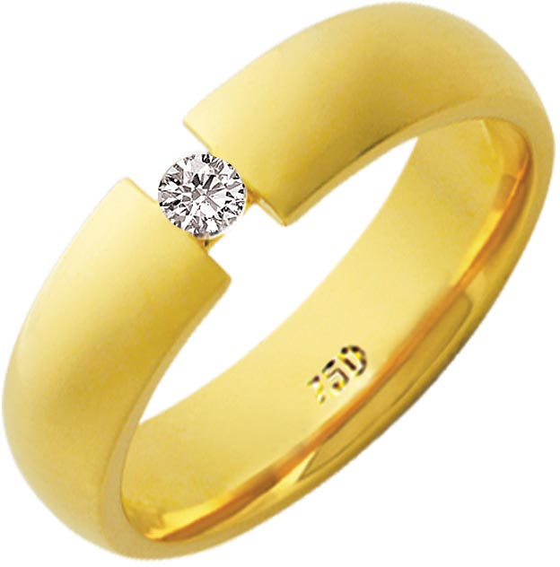Aliança Ponto de Amor de Ouro 18K ZAE209