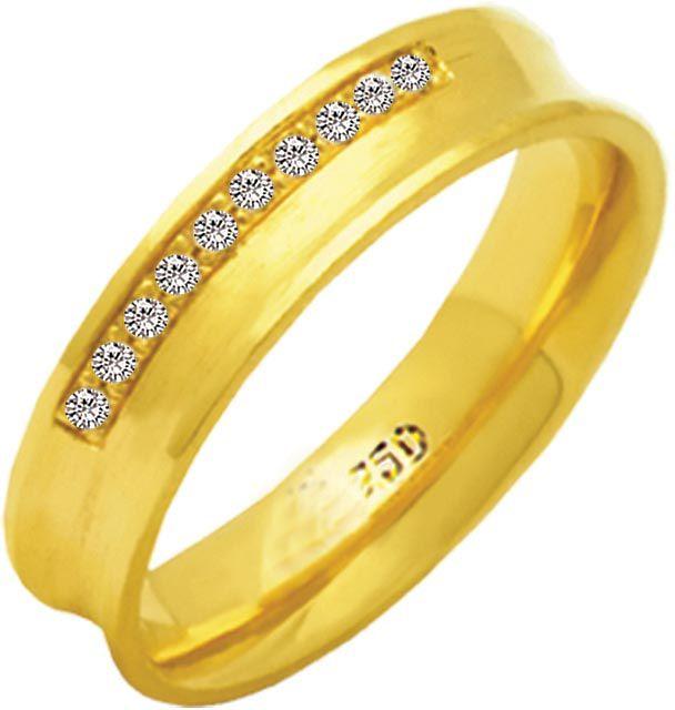 Aliança Queen de Ouro 18K ZAE157