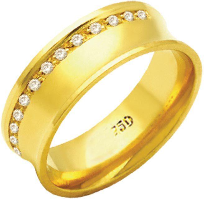 Aliança Queen de Ouro 18K ZAE169