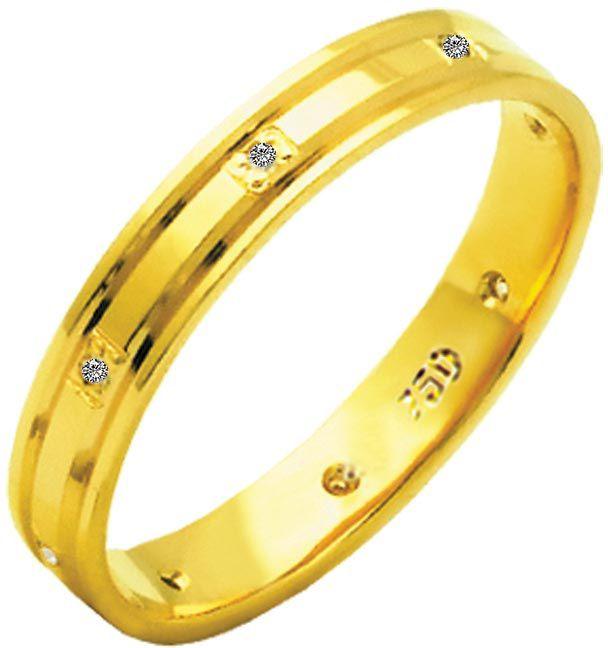 Aliança Stella de Ouro 18K ZAE180