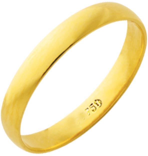 Aliança Tradicional de Ouro 18K ZS25