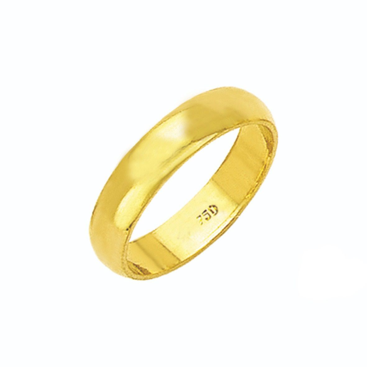Aliança Tradicional de Ouro 18K ZS35
