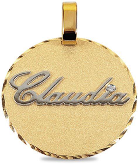 pingente de ouro personalizado com nome ou palavra ZPLMA-01