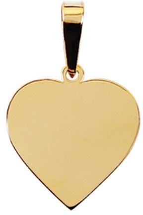 pingente em ouro formato coração ZPS17