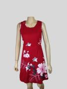 Vestido Social com Flores Rosa