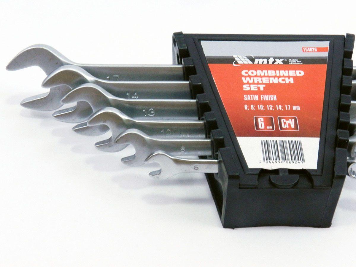 Jogo de chaves combinadas 6 peças 6x17mm MTX