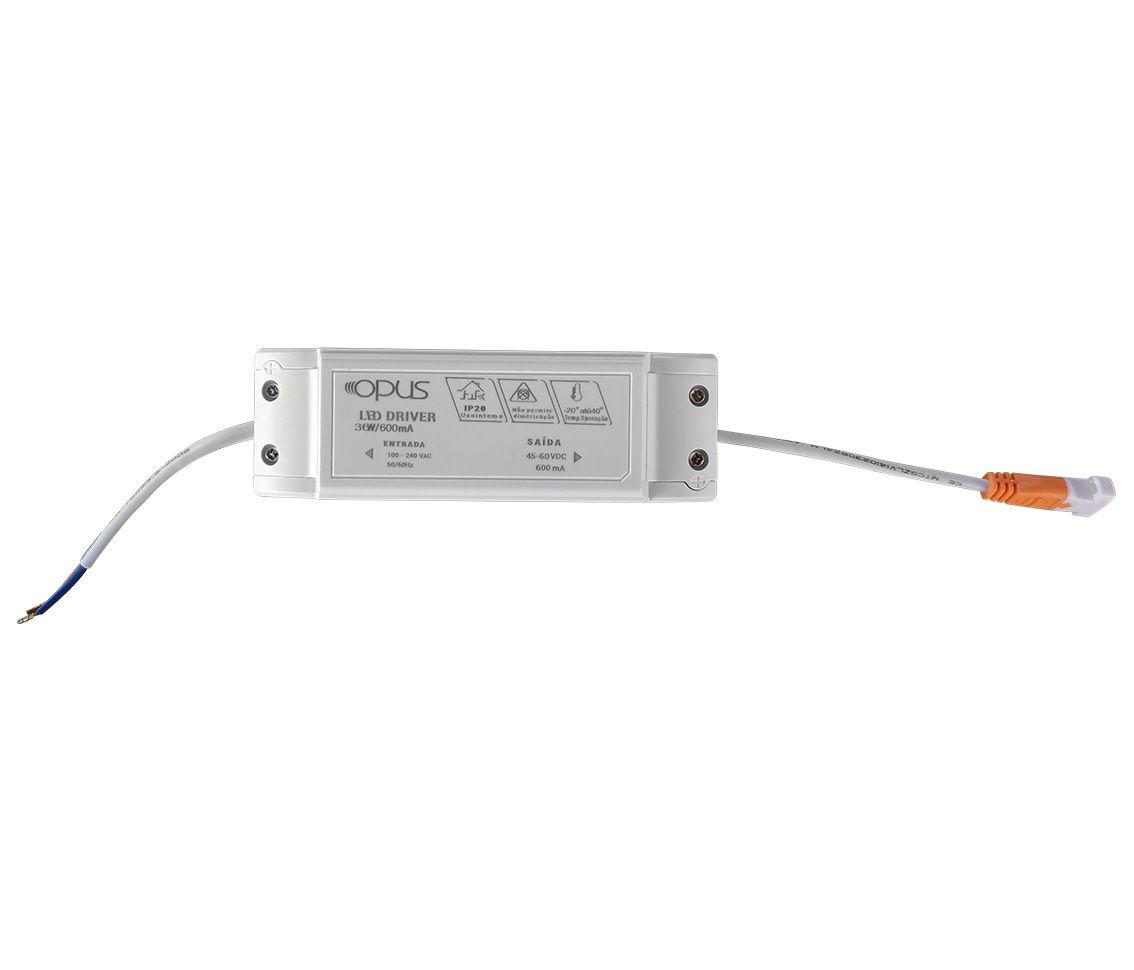 Paflon ECO 32603 40X40 quadrada de embutir, luz branca fria, 36W, 2340lm, 6.400K