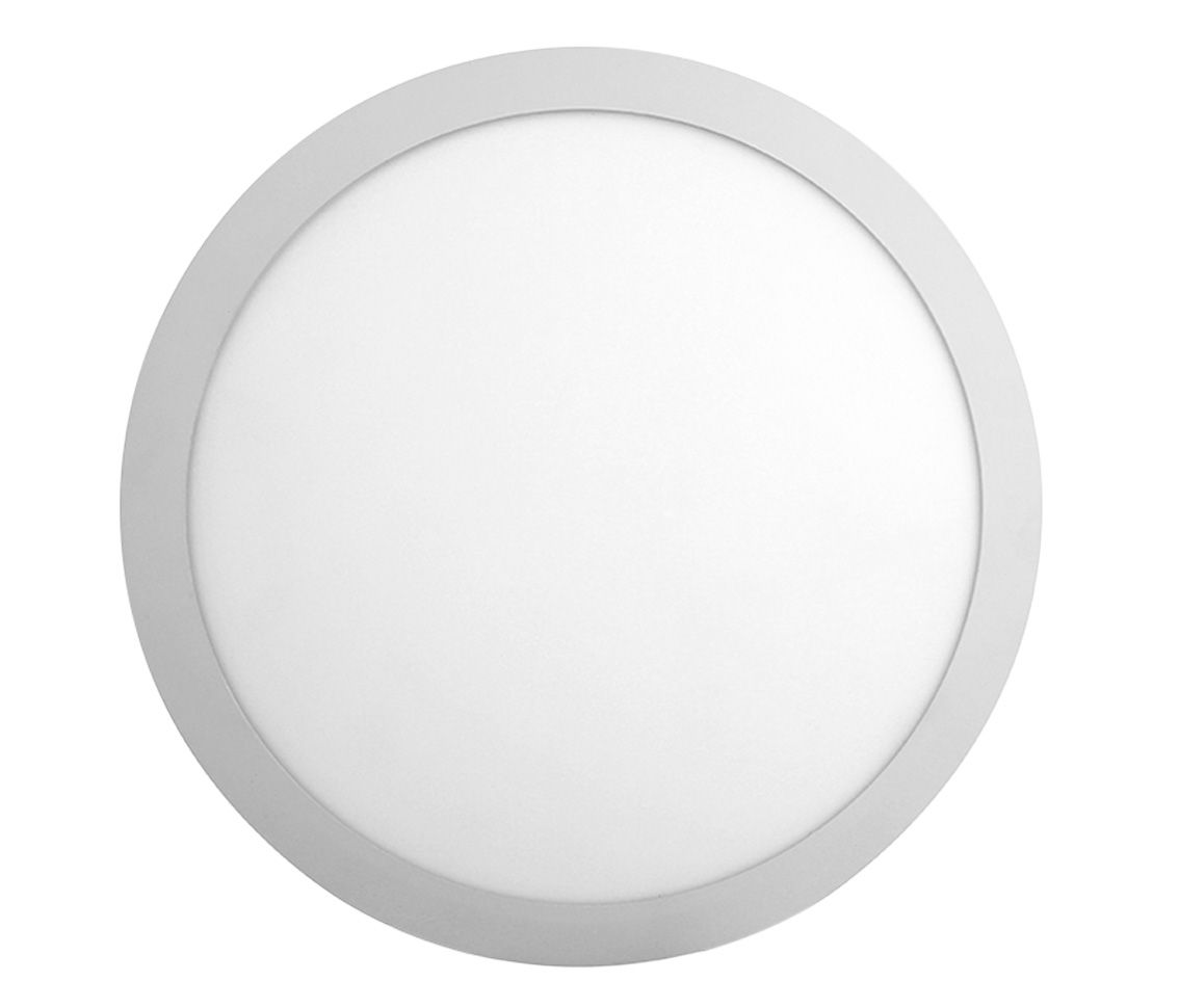 Paflon ECO 33853 28,5x28,5 redonda de sobrepor, luz branca neutra, 24W, 1200lm, 4.000K