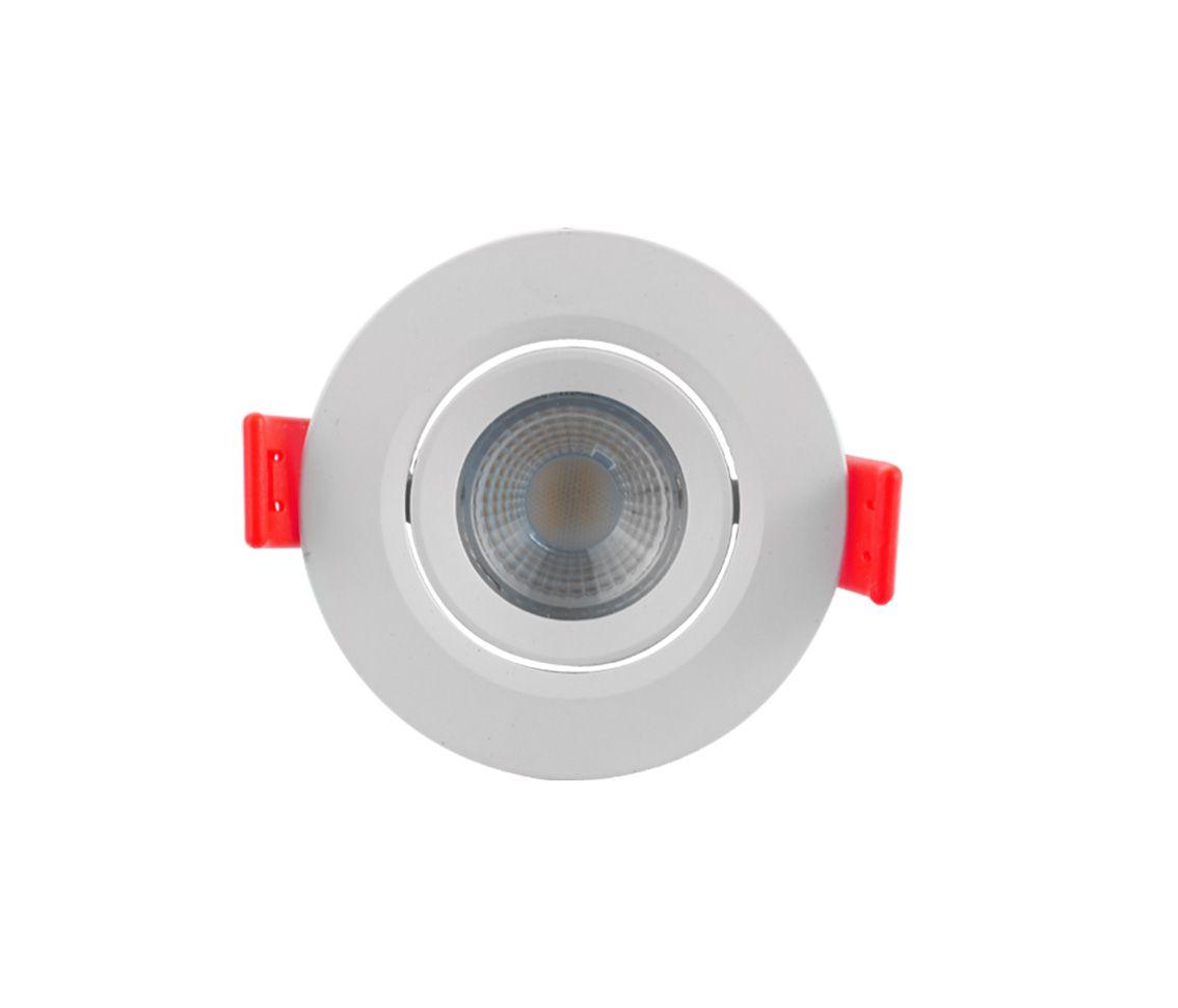 SPOT LED ECO 33013 redondo luz quente de embutir, 3W, 230lm, 3.000K