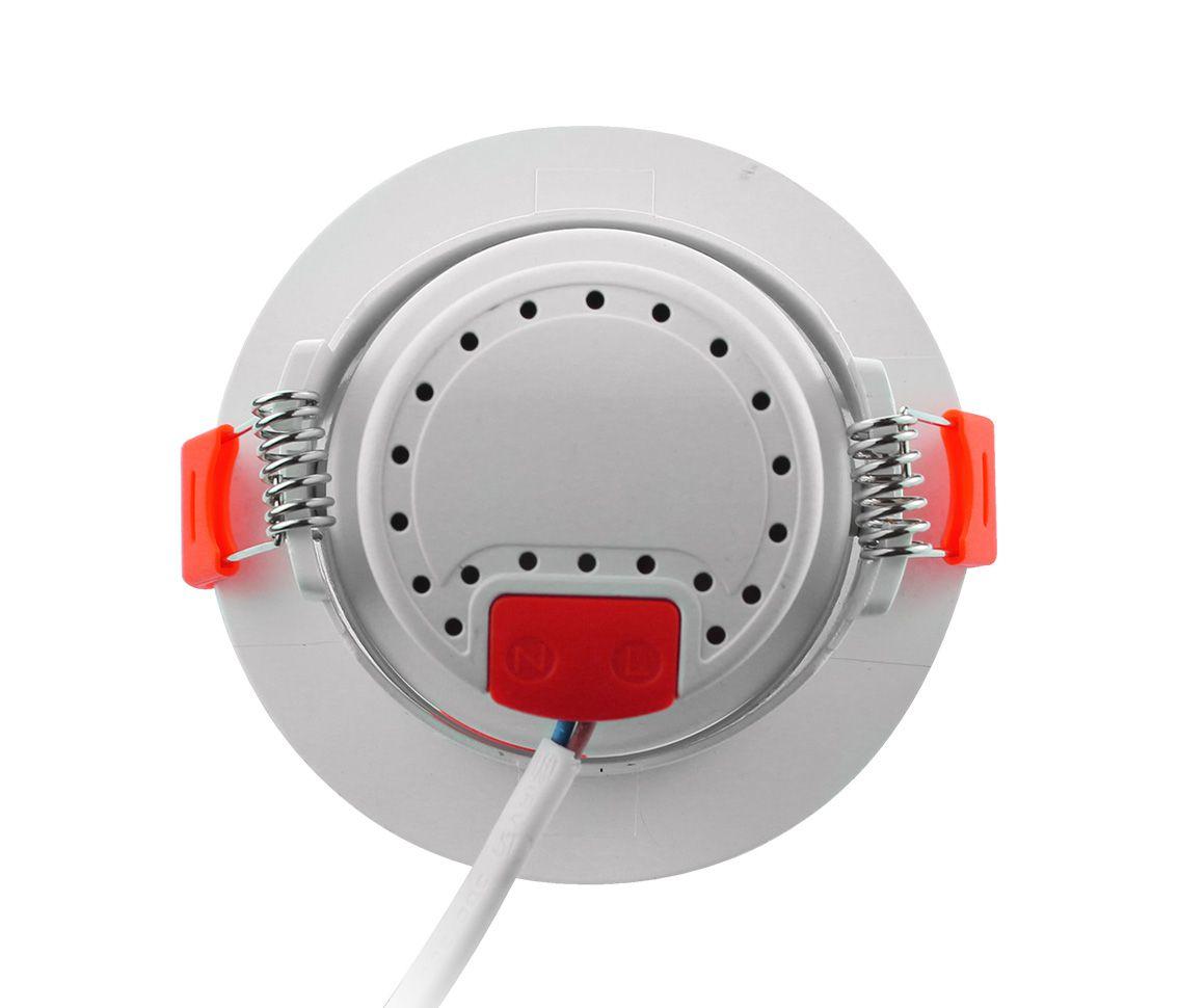 SPOT LED ECO 33020 redondo branco frio de embutir, 3W, 240lm, 6.500K