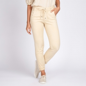 Calça Jogger Jeans Color Cor Off White