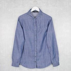 Camisa Jeans Leve Manga Longa Bloom