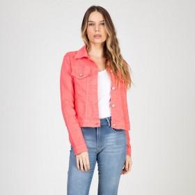 Jaqueta Color em Sarja com Elastano Cor Chiclete