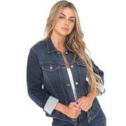 Jaqueta Jeans Leny Azul