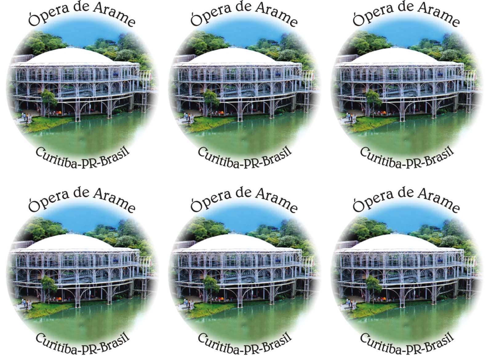 Curitiba -Ópera de Arame 7cm