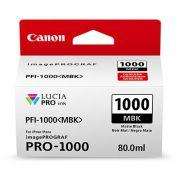 CARTUCHO DE TINTA CANON PFI-1000MBK MATTE PRETO PRO-1000