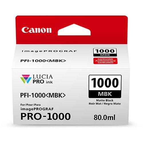 CARTUCHO DE TINTA CANON PFI-1000MBK MATTE PRETO PRO-1000  - LOJAINFOPARANA