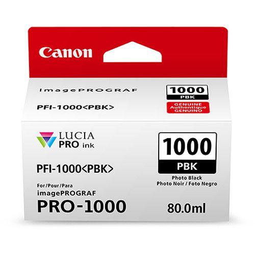 CARTUCHO DE TINTA CANON PFI-1000PBK PHOTO PRETO PRO-1000  - LOJAINFOPARANA