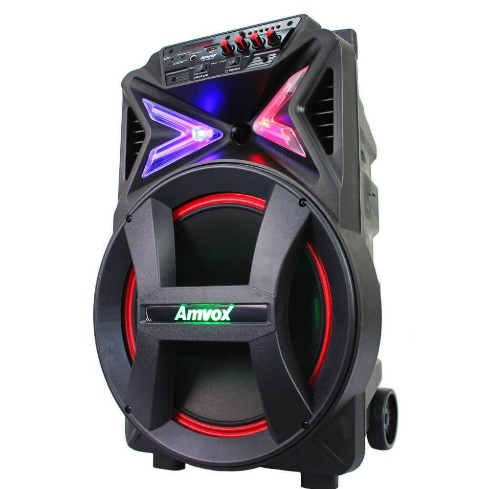 Caixa de som Amplifica Amvox ACA 292 290w Recarregável New X