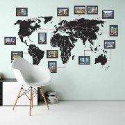 Mapa Mundi com Molduras - ML